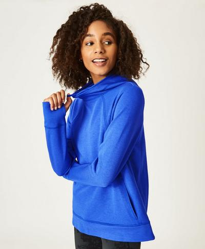 Pleat Tech Run Hoodie, Ultramarine | Sweaty Betty