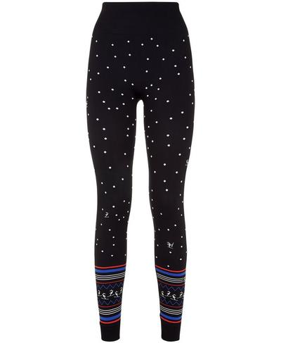 Free Style Seamless Ski Leggings, Black Snowfall Jacquard | Sweaty Betty