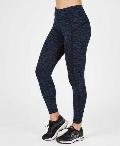 Jacquard Leggings, Black Jacquard | Sweaty Betty