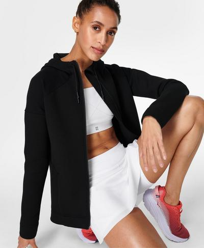 Cross Train Hoodie, Black | Sweaty Betty