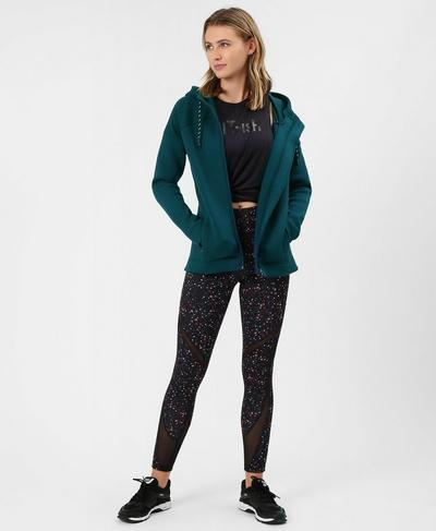 Cross Train Hoodie, Midnight Teal | Sweaty Betty
