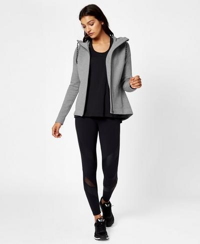 Cross Train Hoody, Silver Grey Marl | Sweaty Betty