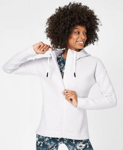 Cross Train Hoodie, Westfjords White | Sweaty Betty