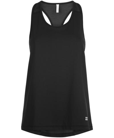 Compound Mesh Tank, Black | Sweaty Betty