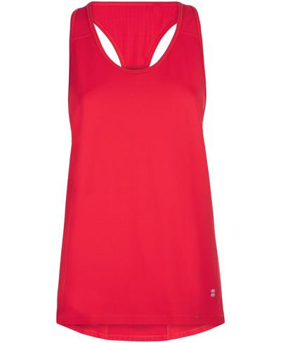 Compound Mesh Tank, Tulip Red | Sweaty Betty