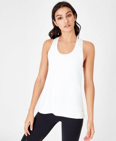 Compound Workout Tank, White | Sweaty Betty