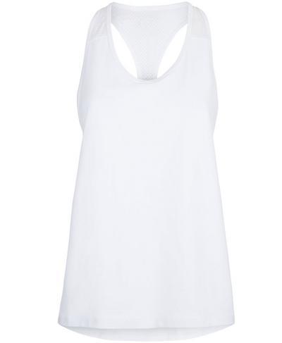 Compound Mesh Tank, White | Sweaty Betty