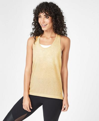 Compound Mesh Workout Tank, Yellow | Sweaty Betty