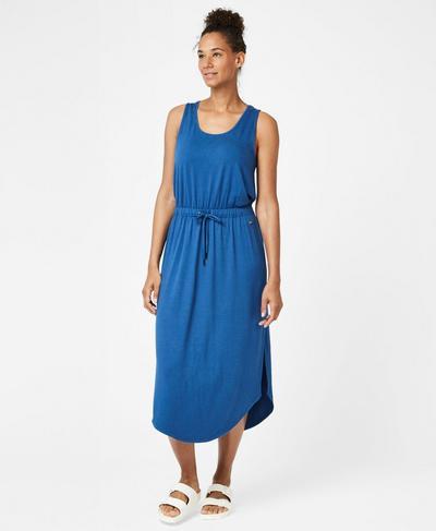 Bloom Tank Dress, Blue Quartz | Sweaty Betty