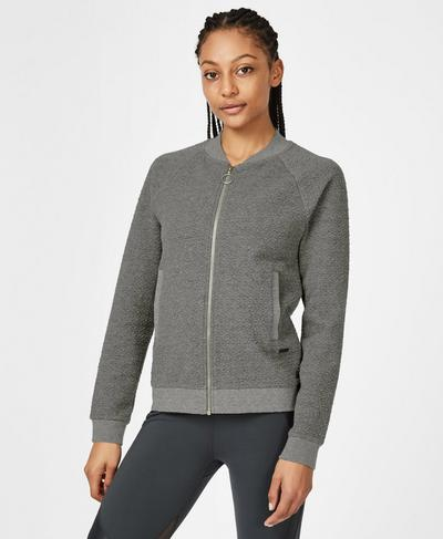 Good Life Zip Through Jacket, Charcoal Marl | Sweaty Betty