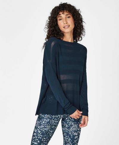 Dreamscape Fine Knit Sweater, Beetle Blue | Sweaty Betty