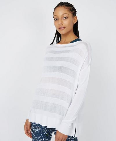 Dreamscape Fine Knit Sweater, White | Sweaty Betty