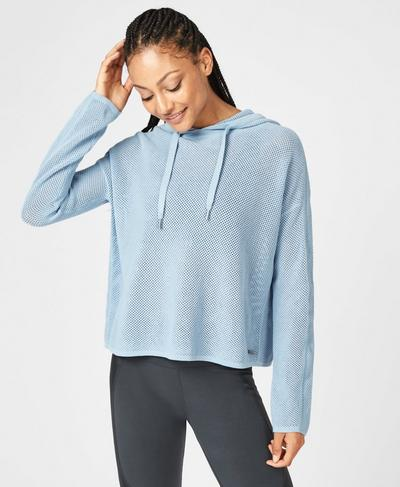 Mesh Up Hoodie, Infinity Blue | Sweaty Betty
