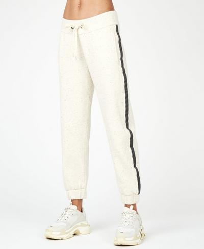 Liberate 7/8 Cuffed Trousers, Off White | Sweaty Betty