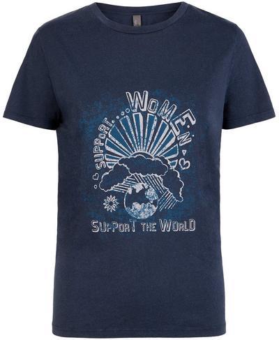 Euphoria Short Sleeve Workout T-Shirt, Beetle Blue A | Sweaty Betty
