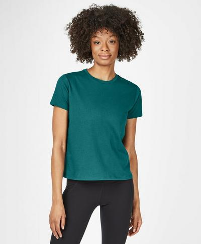 Euphoria Short Sleeve Workout T-Shirt, June Bug Green | Sweaty Betty