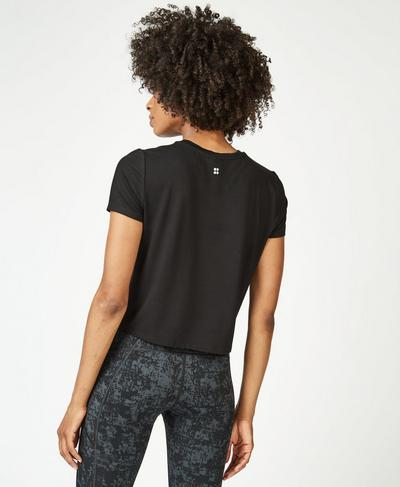 Euphoria Short Sleeve Gym T-Shirt, Black A | Sweaty Betty