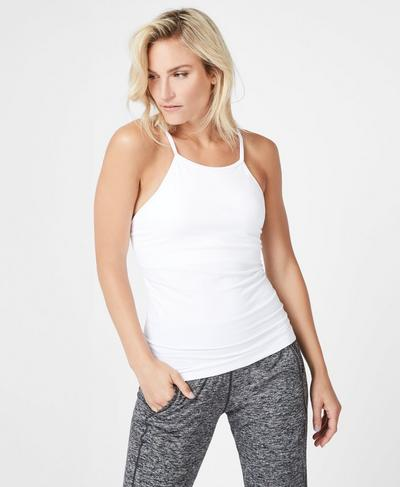 Narada Yoga Tank, White | Sweaty Betty