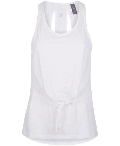 Gratitude Gym Vest, Off White | Sweaty Betty