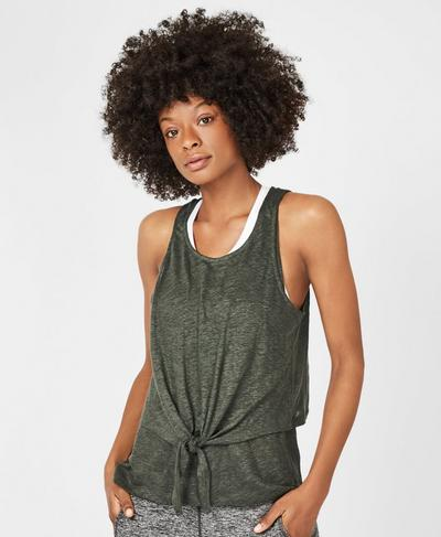 Gratitude Workout Tank, Olive | Sweaty Betty