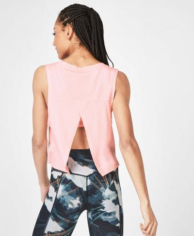 Eden Open Back Tank, Liberated Pink | Sweaty Betty