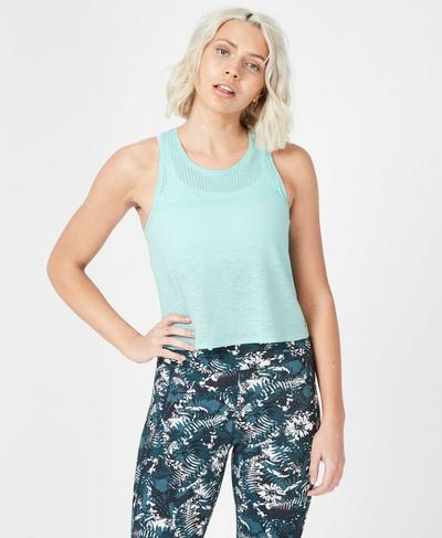 Breeze Short Running Tank, Angel Blue | Sweaty Betty