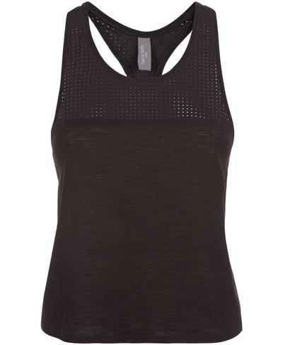 Breeze Short Running Tank, Black | Sweaty Betty