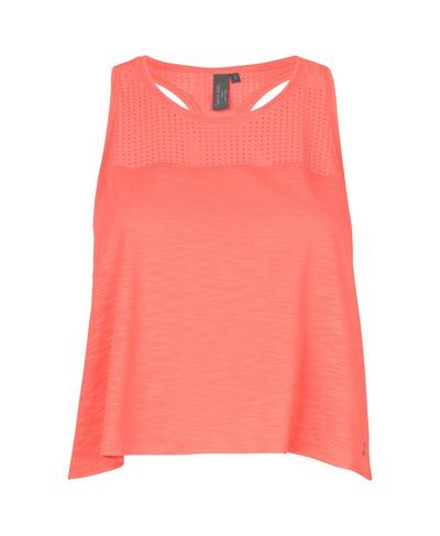 Breeze Short Running Vest, Fluro Flash Pink | Sweaty Betty