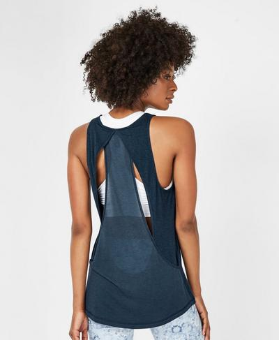 Enchant Workout Tank, Beetle Blue | Sweaty Betty