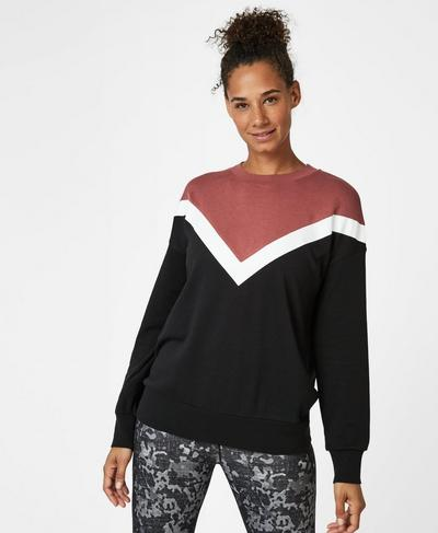 Colour Block Sweatshirt, RUST | Sweaty Betty