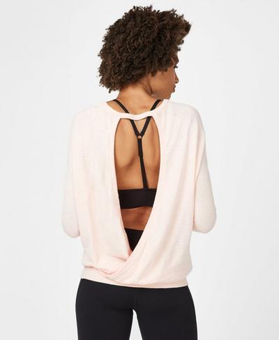 Eternal Open Back Sweater, Liberated Pink | Sweaty Betty