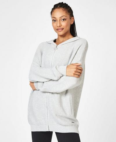 Assemble Hoodie, Light Grey Marl | Sweaty Betty