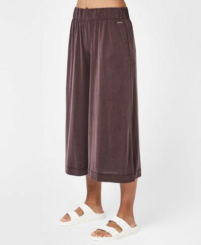 Peaceful Culotte, Black Cherry | Sweaty Betty