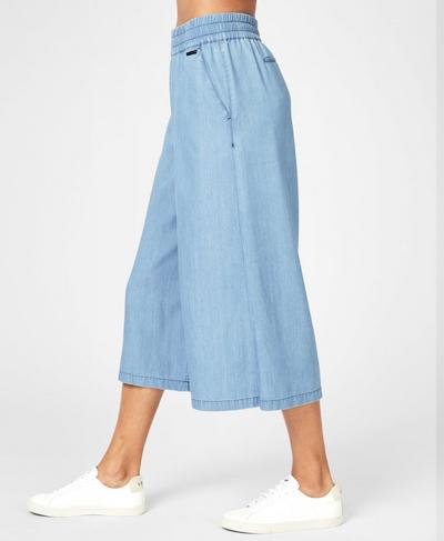 Dusk Wide Leg Culottes, Denim | Sweaty Betty