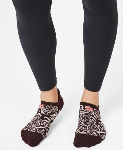 Trainer Liners, Liberated Pink Black Cherry | Sweaty Betty