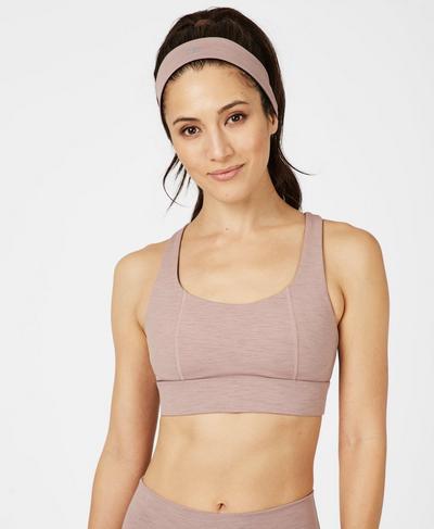 Anna Medium Running Headband, Velvet Rose Pink | Sweaty Betty