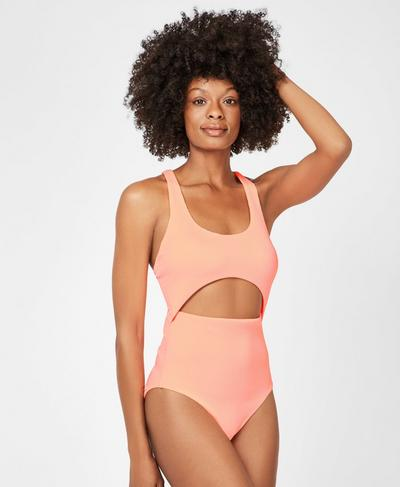 High Tide Swimsuit, Passion Coral | Sweaty Betty