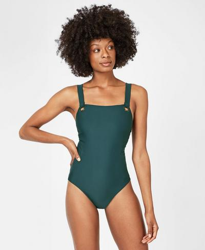 Retreat Swimsuit, Midnight Teal | Sweaty Betty