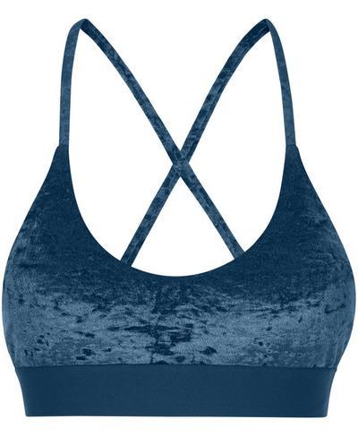 Volley Velvet Swim Bikini Top, Beetle Blue | Sweaty Betty