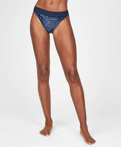 Volley Velvet Swim Bikini Bottoms, Beetle Blue | Sweaty Betty