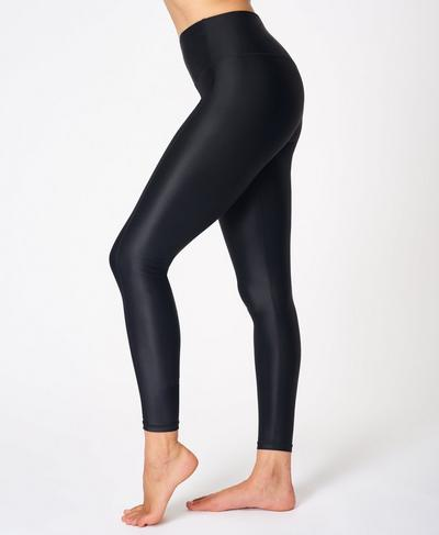 High Shine High Waisted Workout Leggings, Black | Sweaty Betty