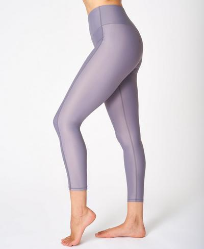 High Shine High Waisted 7/8 Leggings, Moonrock Purple | Sweaty Betty