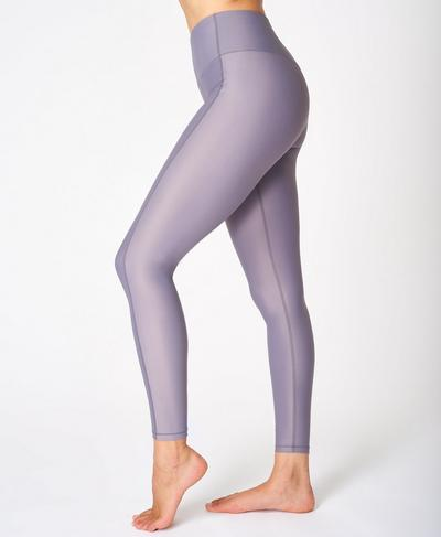 High Shine High-Waisted Leggings, Moonrock Purple | Sweaty Betty