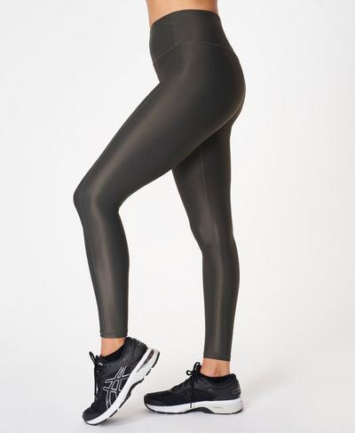 High Shine High-Waisted Leggings, Slate Grey | Sweaty Betty