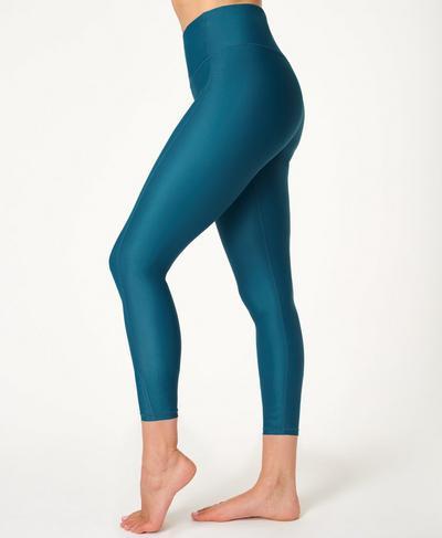 High Shine 7/8-Leggings mit hohem Bund, Teal Blue | Sweaty Betty