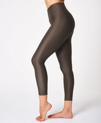 High Shine High-Waisted 7/8 Leggings, Turkish Coffee Brown | Sweaty Betty