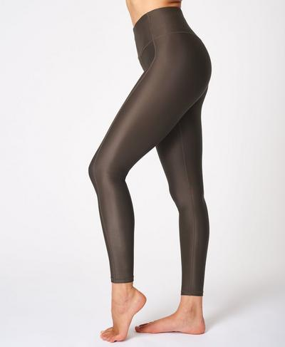 High Shine High-Waisted Leggings, Turkish Coffee Brown | Sweaty Betty