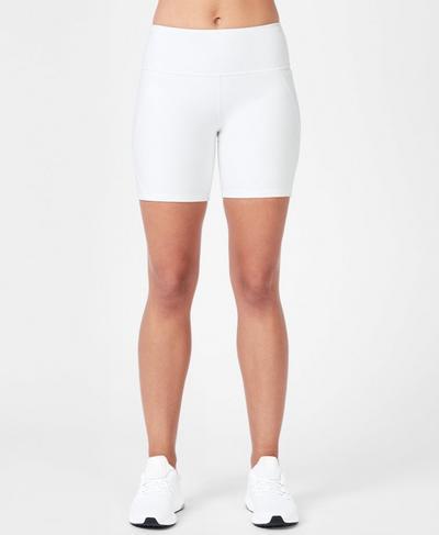 Power Workout Shorts, White | Sweaty Betty