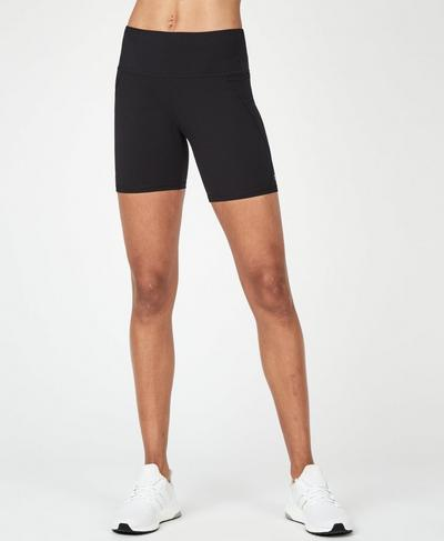 "Power 6"" Biker Shorts, Black 