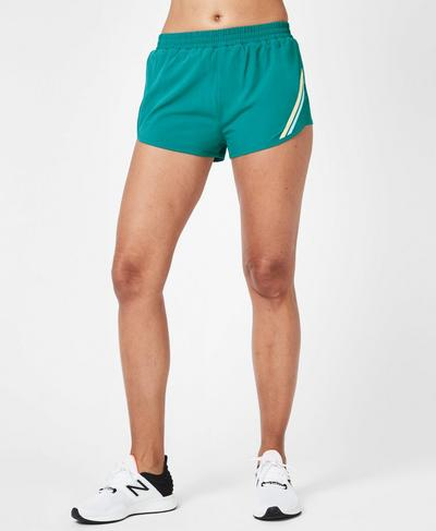 Interval Running Shorts, Deep Lake | Sweaty Betty